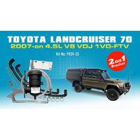 Landcruiser 70 Series 2007+ 2on1 ProVent Oil Catch Can